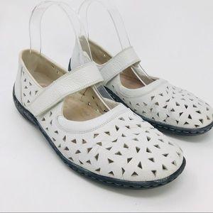 Rieker Antistress White Mary Janes Walking Shoe 37